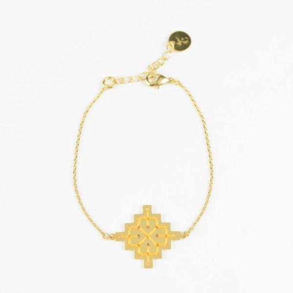 The Camelia bijoux - Bracelet Badi jaune