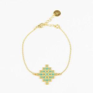 The Camelia bijoux - Bracelet Badi vert