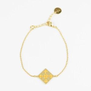 The Camelia bijoux - Bracelet Socco jaune