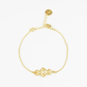 The Camelia bijoux - Bracelet Souika écru