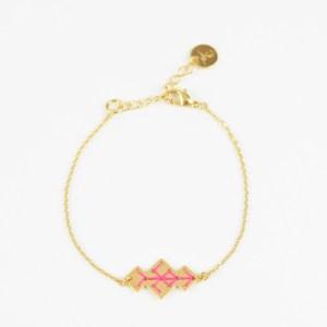 The Camelia bijoux - Bracelet Souika rose