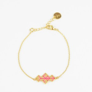The Camelia bijoux - Bracelet Souika rose