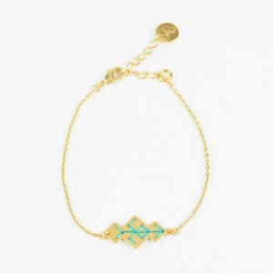 The Camelia bijoux - Bracelet Souika vert