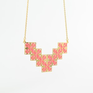 The Camelia bijoux - Collier Bou Inania corail 1