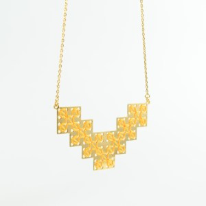 The Camelia bijoux - Collier Bou Inania jaune 1