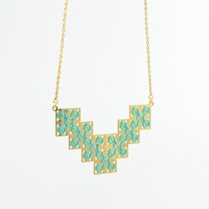 The Camelia bijoux - Collier Bou Inania vert 1