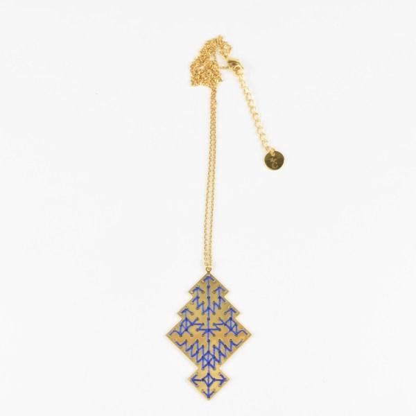 The Camelia bijoux - Collier Chellah bleu majorelle 2