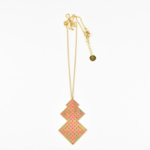 The Camelia bijoux - Collier Oudayas corail 2