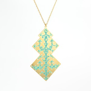 The Camelia bijoux - Collier Oudayas vert 1