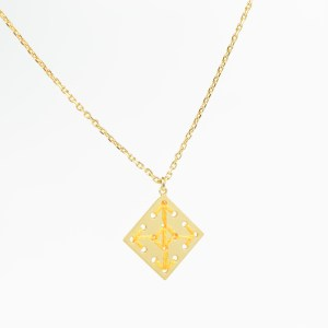 The Camelia bijoux - Collier Socco jaune 1.