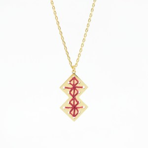 Collier Chouara bordeaux
