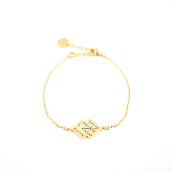 Bracelet Drâa multicolore brillant
