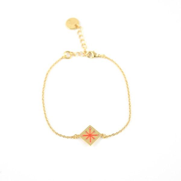 Bracelet Ménara orangé