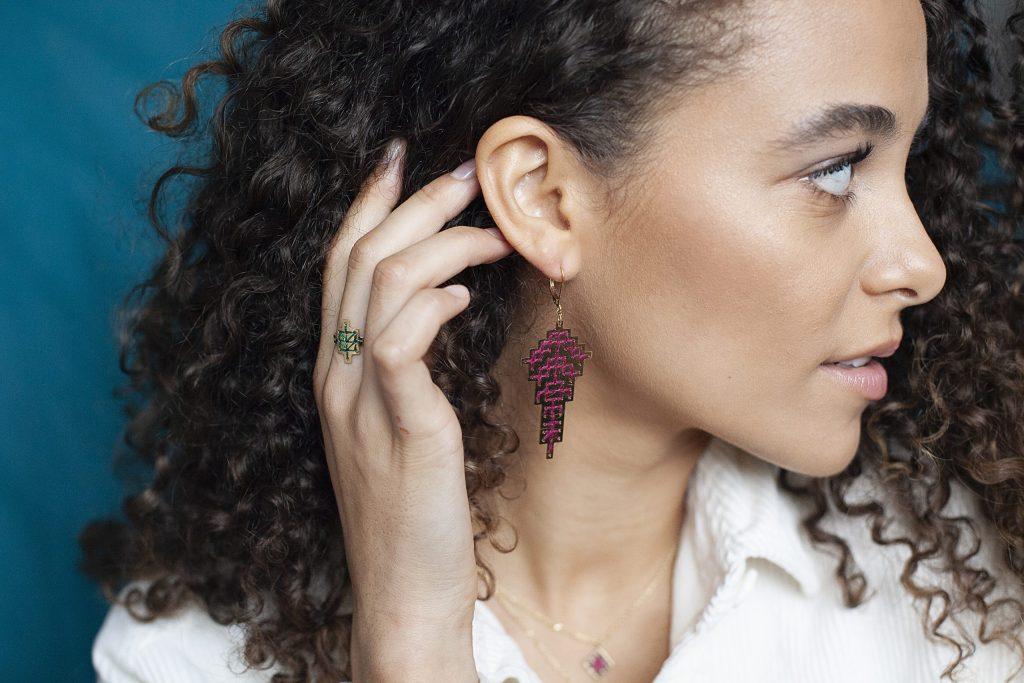 Boucles d'oreilles Safi + bague Mouassine