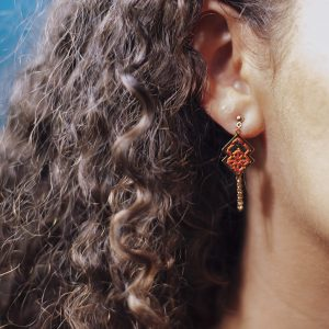 Boucles d'oreilles avant arrière lobe Drâa