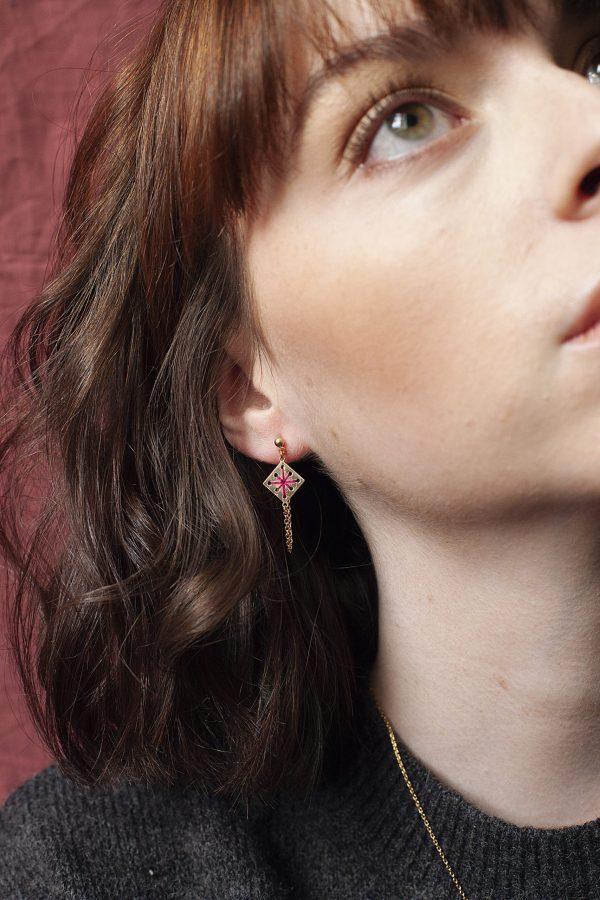 Boucles d'oreilles avant-arrière lobe Ménara