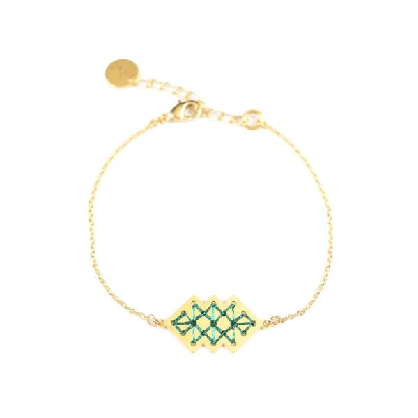 Bracelet Dadès vert brillant