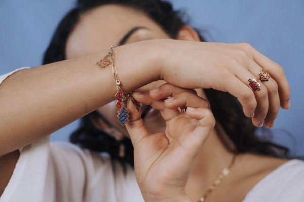 bracelet personnalisable pendentifs clips