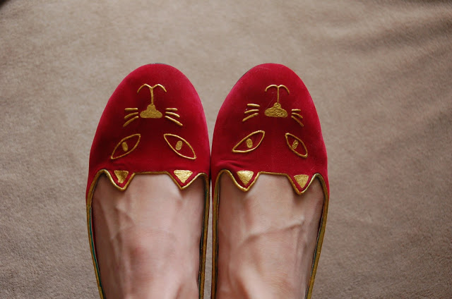 DIY slippers Charlotte Olympia
