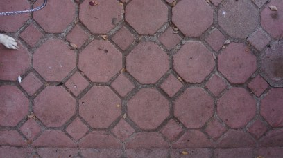 red tile patio
