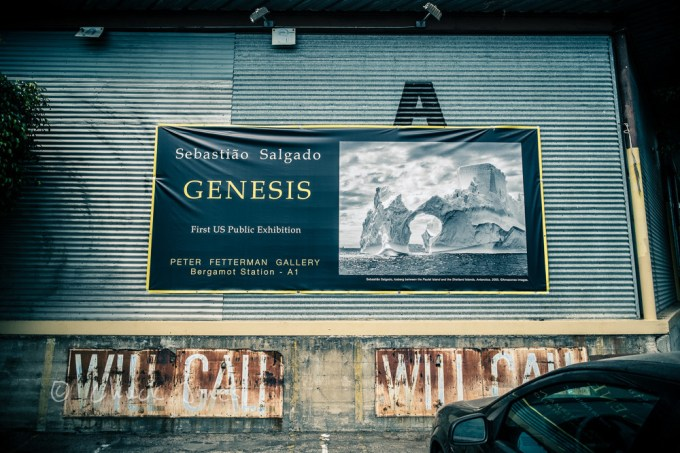 The First US Public Exhibition of Genesis on the walls at Peter Fetterman Gallery in Santa Monica, CA