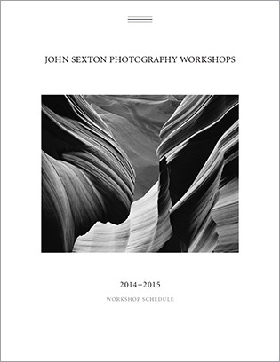 John Sexton's 2014-2015 Black-and-White Workshop Brochure