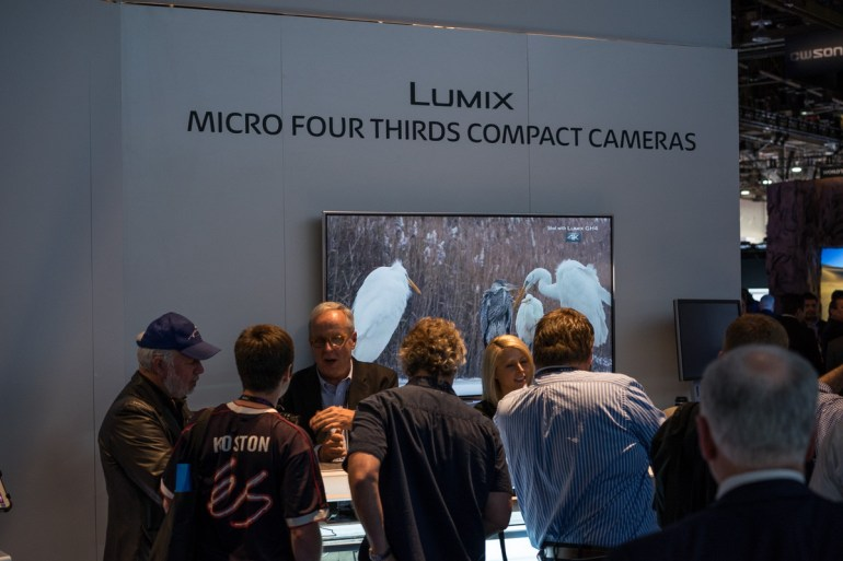 The Panasonic Booth Was Packed Most of the Show With Inquiries About The GH4.