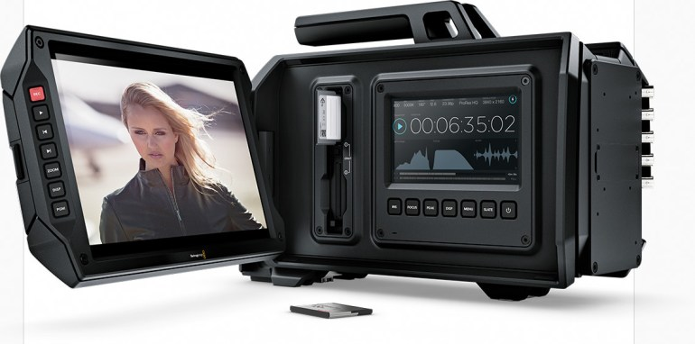 Blackmagic URSA features dual recorders so you never need to stop recording to change media.