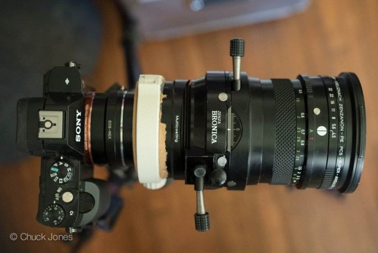 The BRONICAsaurus adapted to my Sony A7R ready for some serious perspective correction business.