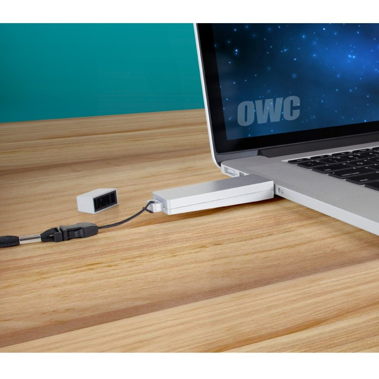 OWC Envoy Pro mini.  A Fast, Secure File Transport Media.
