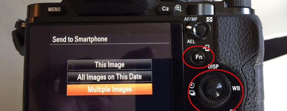 Using Sony Wi-Fi with PlayMemories, PicTapGo & Instagram