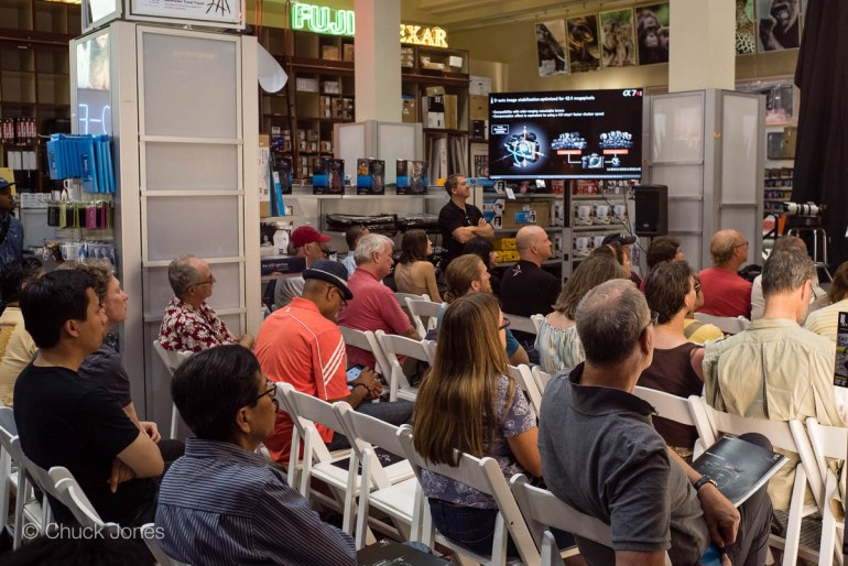 This event drew a record number of attendees for any previous events at Samy's Camera. It filled three sessions!