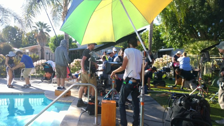 Setting Up The Tracks For A Dolly Shot
