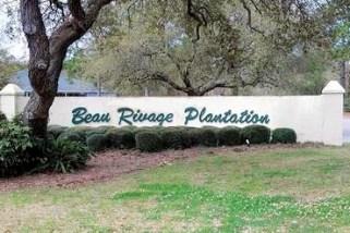 Beau Rivage Plantation Entrance Sign