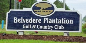 Belvedere Plantation Golf and Country Club Sign