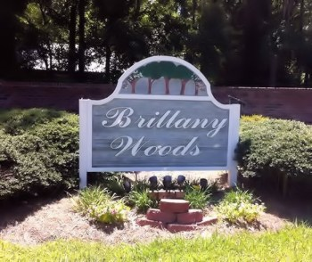 Brittany Woods Sign