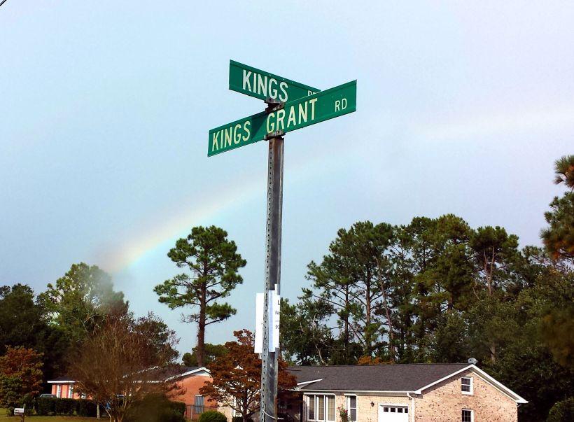 Rainbow over Kings Grant