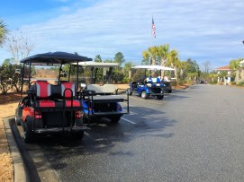 Compass Pointe - Clubhouse Golf Carts