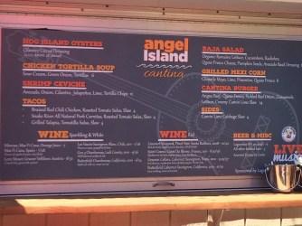 Angel Island Cantina Menu