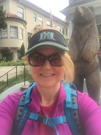Selfie with the bear statue. Go Bears!