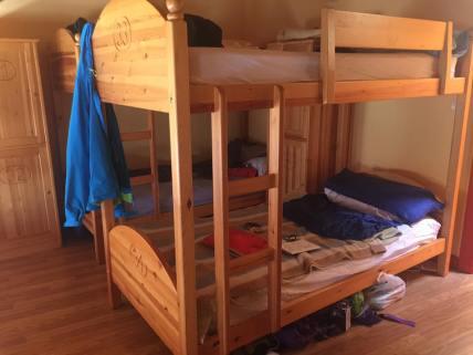My bed with a Silk Sleep Sack.