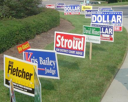 Political Campaign Signs Don't Vote — Or Do They?