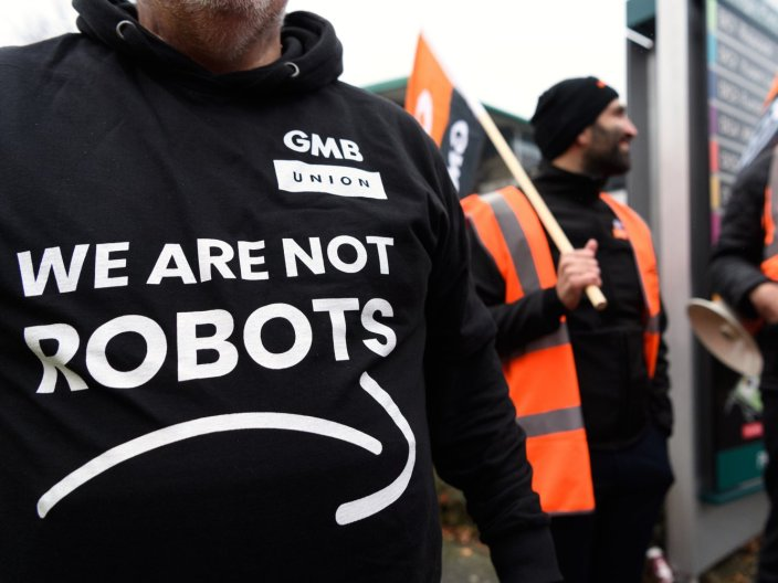 'We are not robots': Thousands of Amazon workers across Europe are striking on Black Friday over warehouse working conditions
