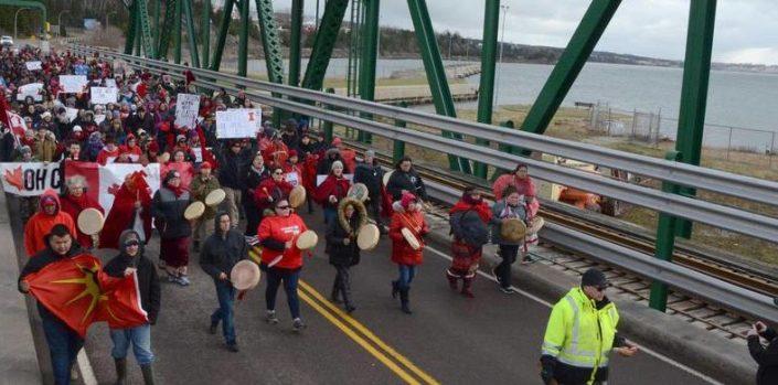 NS: We'koqma'q residents, supporters block causeway seeking answers in Cassidy Bernard's death
