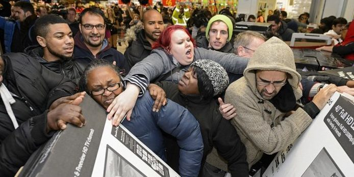 Black Friday chaos around the world as frantic shoppers scramble for bargains