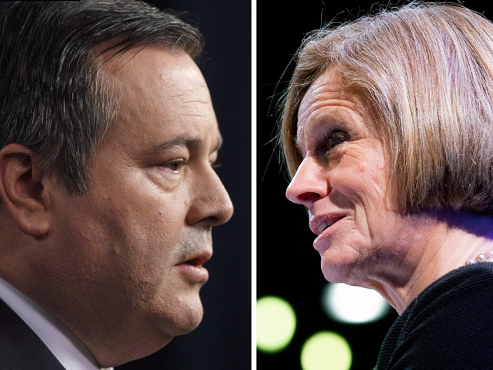 Notley promises new rail cars to ship oil as Kenney calls for government-imposed production cuts