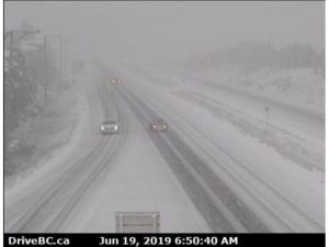 Weather extremes: Snow covers Okanagan hwy as Penticton wildfires burn