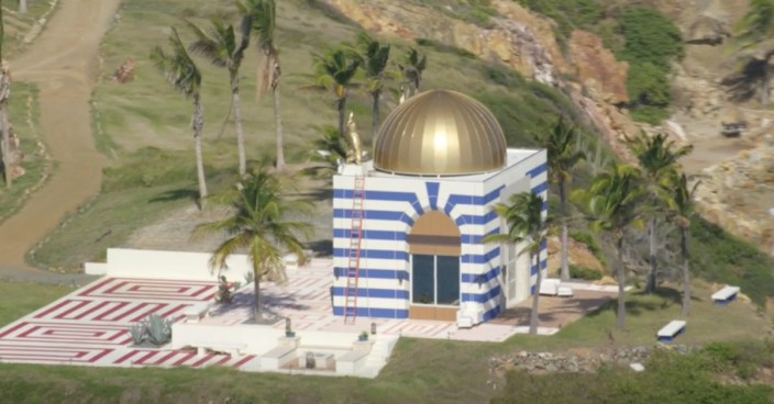 What's the Deal with the Bizarre Temple-Like Structure on Jeffrey Epstein's Private Island?