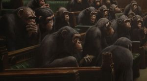 Banksy's chimp-depicting Devolved Parliament sells for more than $16M
