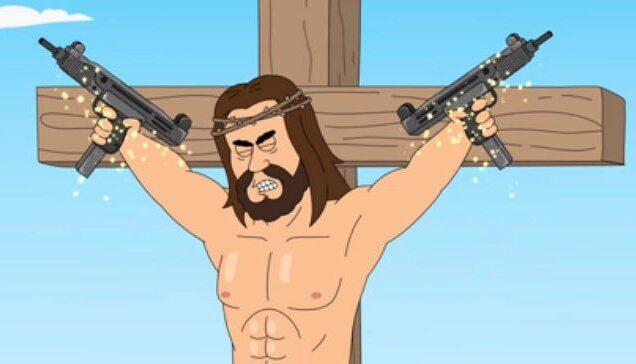 Netflix Show 'Paradise P.D.' Uses Sex-Loving Jesus to Mock American Gun Owners